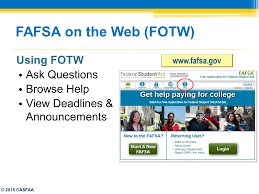 Fafsa Help Desk Number by Federal Updates U0026 The Fafsa Ppt Download