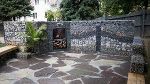 mur de separation exterieur mur et clôture gabion idées pour le jardin en 33 photos