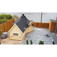 100 Log Cabin Extensions 92 M Grillkota Small BBQ Hut With Sauna Extension Kit For Sale