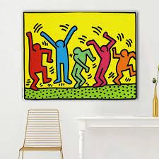 modulare leinwand home decor keith haring abstrakte wand