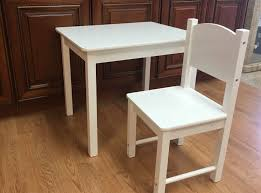 Details About Wooden Kids Table And Chairs Set Solid Hard Wood Sturdy Child  Tables And Chair