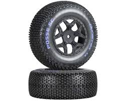 DuraTrax Posse 1/10 Pre-Mounted SC Truck Tire (2) (C2) (Losi Ten ...