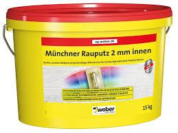 weber münchner rauputz 2 mm körnung innen 15 kg pastös