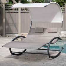Double Chaise Lounge Costway Folding Rocking Chair Rocker Porch Zero Gravity Fniture Sunshade Canopy Beige Massage Garden Tasures Metal Stationary Chairs With Brown Outdoor Living Meijer Grocery Pharmacy Home More Leisure Zone 2 X Textoline Recling Table Beach Sun Lounger Loungers Recliner Lawn Patio The Depot Case Of Black Lounge Yard Cup Holders Guide Gear Oversized 500 Lb Blue Low Profile Sling Camping Concert With Mesh Back Holder For Wilko Woven Green