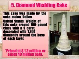 3 5 Diamond Wedding Cake