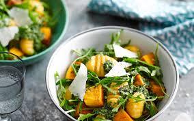 Pumpkin Gnocchi Recipe by Potato And Pumpkin Gnocchi With Rocket Pesto Recipe Food To Love