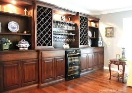 Built In Dining Room Hutch Wine Cabinets Amish Made