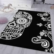 jugendzimmer kinderzimmer wohnzimmer schlafzimmer schwarz skull totenkopf motiv vimoda homestyle