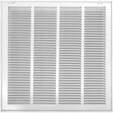 Decorative Return Air Grille 20 X 20 by Shop Accord 520 Series White Steel Louvered Sidewall Ceiling
