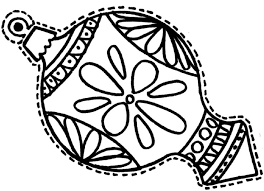 Ornament For Christmas Coloring Pages
