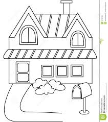 House Coloring Page Stock Illustration Image Book Pages Easy Pictures Educations