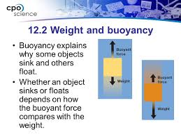Materials Sink Or Float by Matter Chapter Twelve The Physical Properties Of Matter 12 1