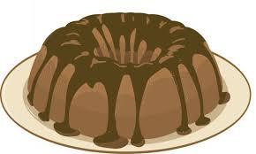 Chocolate Bundt Cake Clipart 1