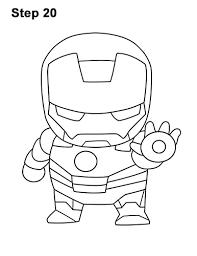 Draw Mini Chibi Cute Little Iron Man 20