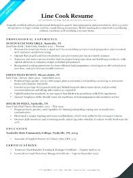 Sous Chef Cover Letter Resumes A Line Cook Resume Sample Example Examples Objective Samples