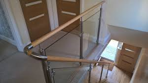 Glass Banister - Sheerwater Glass Stairs Amusing Stair Banisters Baniersglsstaircase Create Unique Metal Handrailings With Pinnacle Staircase And Hall Contemporary Artwork Glass Banister In Best 25 Glass Balustrade Ideas On Pinterest Handrail Wwwstockwellltdcouk American White Oak 3 Part Dogleg Flight Frameless Stair Railing Elegant Safety Architecture Inspiring Handrails For Beautiful Amusing Stright Banister With Base Frames As Decor Tips Cool Banisters Ideas And Newel Detail In Brown