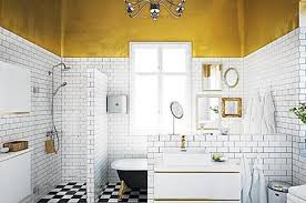 white ceramic brick wall tiles for scandinavian bathroom