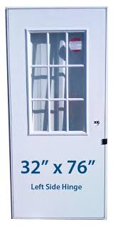 Mobile Home Cottage Door 32x76 LH Left Hand Hinge Doors with Window