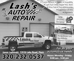 LASH'S AUTO REPAIR, LASH'S AUTO REPAIR, Pierz, MN Custom Truck Replacement Bumpers Aftermarket Bumper Parts Trucks Arrowhead Iron Custom Metal Vehicle Car Truck Trailer Racks Dakota Hills Accsories Defender Alinum 2k11 Heritage Show Mini Truckin Magazine 2007 Chevrolet Avalanche Ltz For Sale White Bear Lake Minnesota Sj Auto Body Paint 254 S Hubbard Ave Polaris Opens New 4 Wheel Truck Accsories Store In Brooklyn Black Vs 2014 Sierra Alberta At Davis Dodge Of Burnsville New Ram Dealership Mn 55337 2013 Mid America Big Rig Videos Mats Nuss Equipment Tools That Make Your Business Work