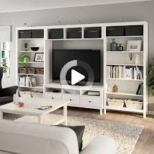 ikea hemnes combinaison meuble tv teinté blanc tv