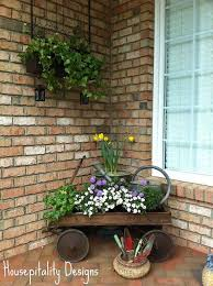 Front Porch Vignette For Spring By Shirleystankus Of Hospitality Designs