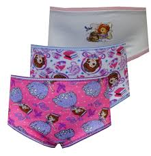 Marshmallow Flip Open Sofa Disney Princess by Disney Sofia The First 3 Pack Toddler Girls Brief Style Panties As