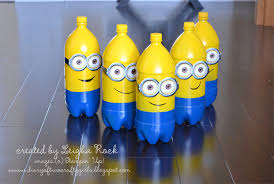 Minion Bowling Pins From Plastic Bottles