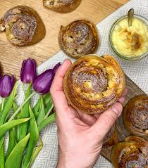 flaumige apfel pudding schnecken thoms küchen block