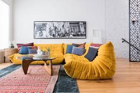 focus sur le canapé togo blueberry home