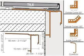 Schluter Tile Edging Colors by Schluter Bara Rak Balcony Edging Profiles Pro Source Center