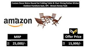 Custom Decor Bistro Round Set Folding Table & Chair Dining Rattan Wicker  Outdoor Furniture Seat Oakville Fniture Outdoor Patio Rattan Wicker Steel Folding Table And Chairs Bistro Set Wooden Tips To Buying China Bordeaux Chair Coffee Fniture Us 1053 32 Off3pcsset Foldable Garden Table2pcs Gradient Hsehoud For Home Decoration Gardening Setin Top Elegant Best Collection Gartio 3pcs Waterproof Hand Woven With Rustproof Frames Suit Balcony Alcorn Comfort Design The Amazoncom 3 Pcs Brown Dark Palm Harbor Products In Camping Beach Cell Phone Holder Roof Buy And Chairswicker Chairplastic Photo Of Green Near 846183123088 Upc 014hg17005 Belleze