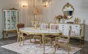 casa padrino luxus barock esszimmer set rosa weiß gold 1 ovaler esstisch 6 esszimmerstühle prunkvolle esszimmer möbel im barockstil