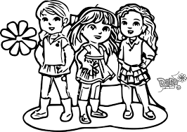 Download Coloring Pages Friends Dora And