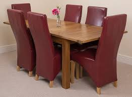 MODERN FURNITURE DIRECT Cotswold Rustic Extending Solid Oak Dining Table 6  Burgundy Leather Chairs 100% Solid Oak | 132-165-198cm Extending | Fast Red Leather Ding Chairs Incredible Room Gorgeous Table With 20 811yxqyvi L Sl1500 4 Full Size Of Dning Rustic Round Quercus Solid Oak 6ft With 6 Wave Back And Brown Iron Frame Oxblood Real Chair Recover Stanley Fniture Set For Sale Dorel Living Shelby 5piece Wood Metal How To Mix Match Tidbitstwine Wonderful Design Home Appliances Concord