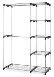 Whitmor Double Rod Closet System Organizer Wardrobe Portable