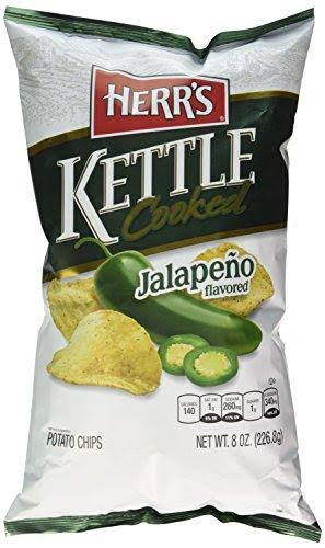 Herr's Kettle Cooked Potato Chips - Jalapeno Flavored, 8oz