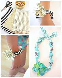Tutorial For Making Adorable Fabric Necklaces And Bracelets Kids Easy Craft Idea The