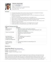 Resume Template For Experienced Software Engineer Sample Best Format Freshers