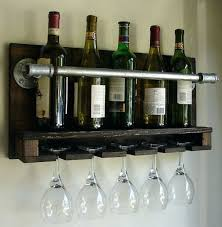 Wine Rack Rustic Wall Mounted Racks Uk Glass