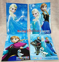 Coloring Book Paper 10 PCS Cartoon The Small Size Frozen Princess Print Learning Kids