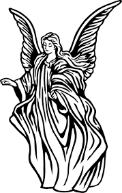 736x1162 29 Best Neeling Angel Tattoo Outlines Images