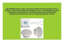 new busch j ger unterputz radio unterputzradio 8215 u