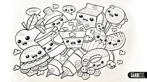 Cute Food Coloring Pages With Inside