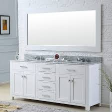 water creation madison 72w 72 inch solid white double sink
