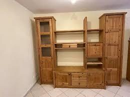 wohnzimmer schrank wohnwand kiefer antik front massiv b h