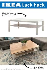 diy farmhouse coffee table ikea lack coffee table hack