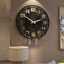 huiling wanduhr groß schwarz digital haushalt wanduhren wohnzimmer schlafzimmer einfach kunst dekoration stumm wall clock