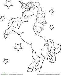 Unicorn Coloring Page Unicorns Pages Royalty Free Stock Illustrations Of To Download