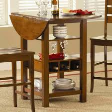 small high top drop leaf kitchen table with storage for