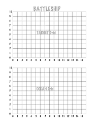 Coordinate Grid Battleship 1 Quadrant